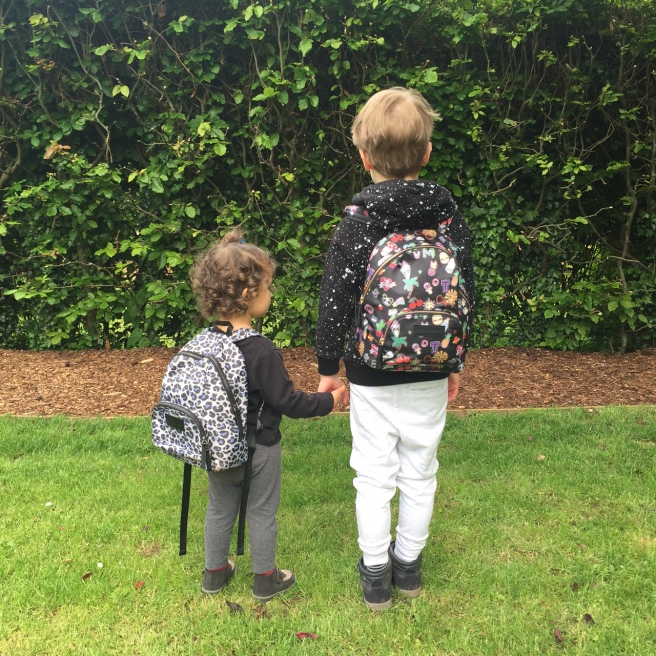 1e966bde8c Alma wears Mini Elwood leopard Kids Backack £35 by Tiba + Marl Archie wears Mini  Elwood Kids Backpack Sticker print £35 by Tiba + Marl