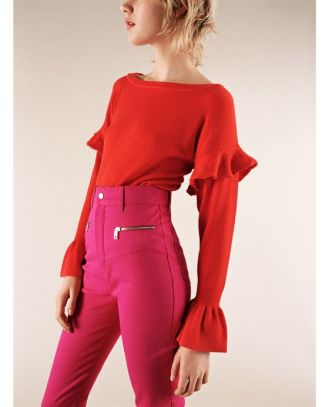 zara-red-frill-knit