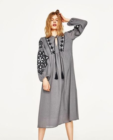 zara grey dress