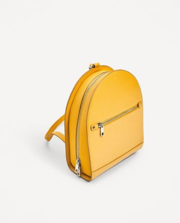 yellow backpack zara