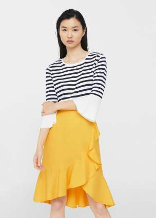 yellow mango skirt