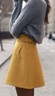 yellow skirt ss