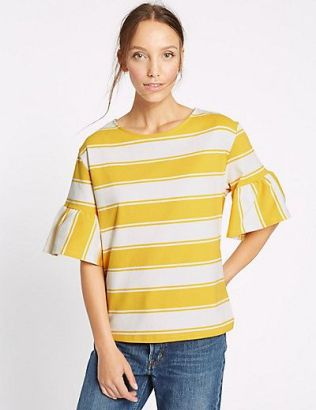 yellow strip M&S