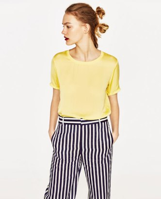 yellow zara tee