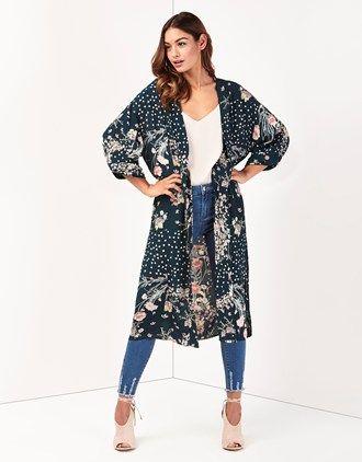 lipsy long kimono