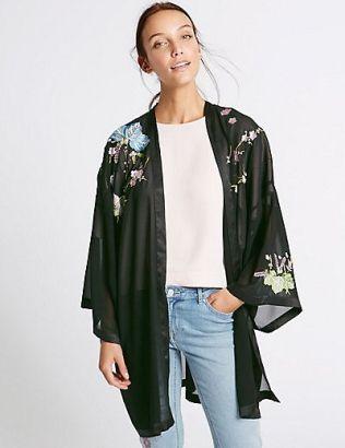 m&S short kimono