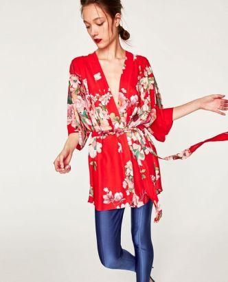 zara kimono short