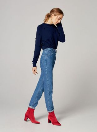uterque red boots