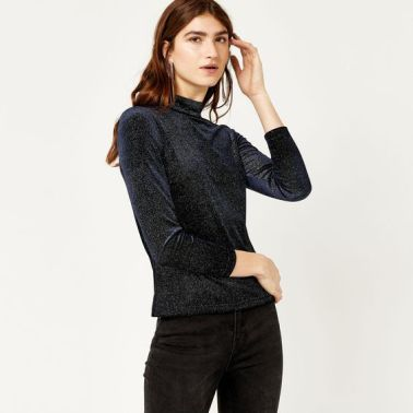warehouse velvet top