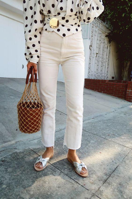spot blouse